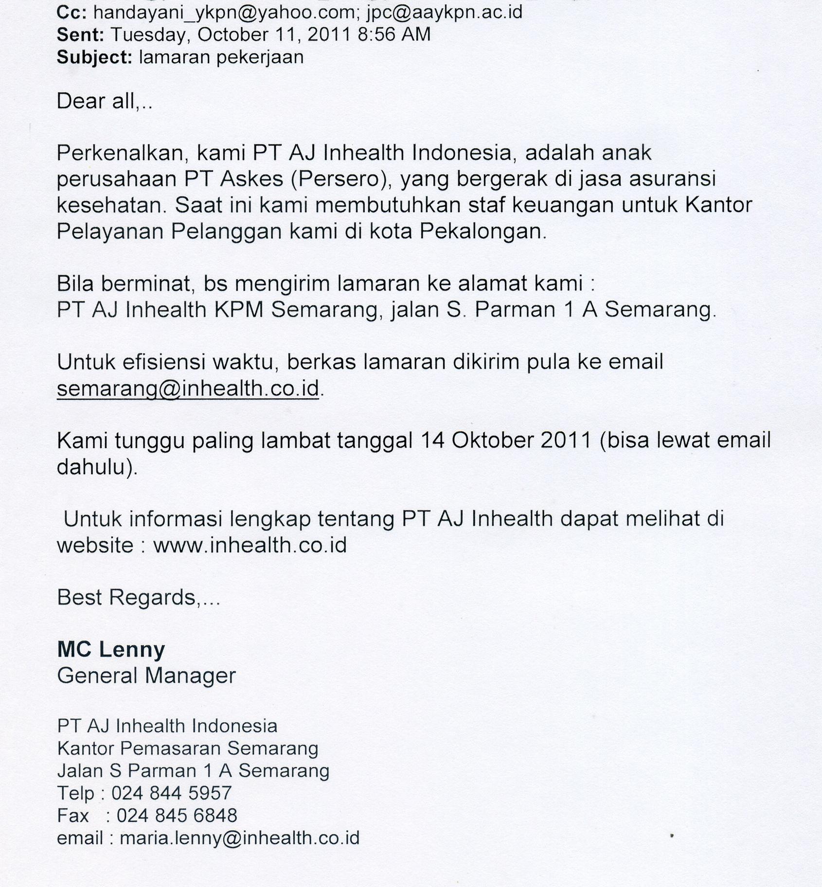 Semarang Lowongankerjo